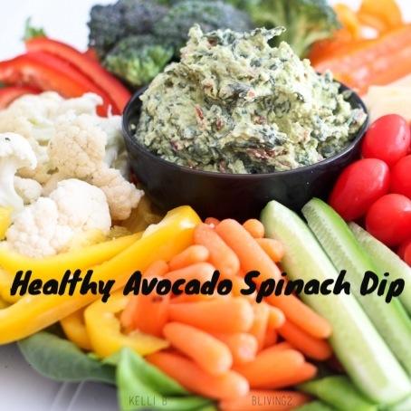 Healthy Avocado Spinach Dip