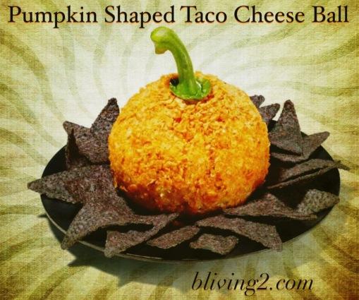 Pumpkin Shaped Taco Cheese Ball pic