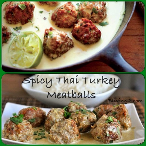 Spicy Thai Turkey Meatballs pic