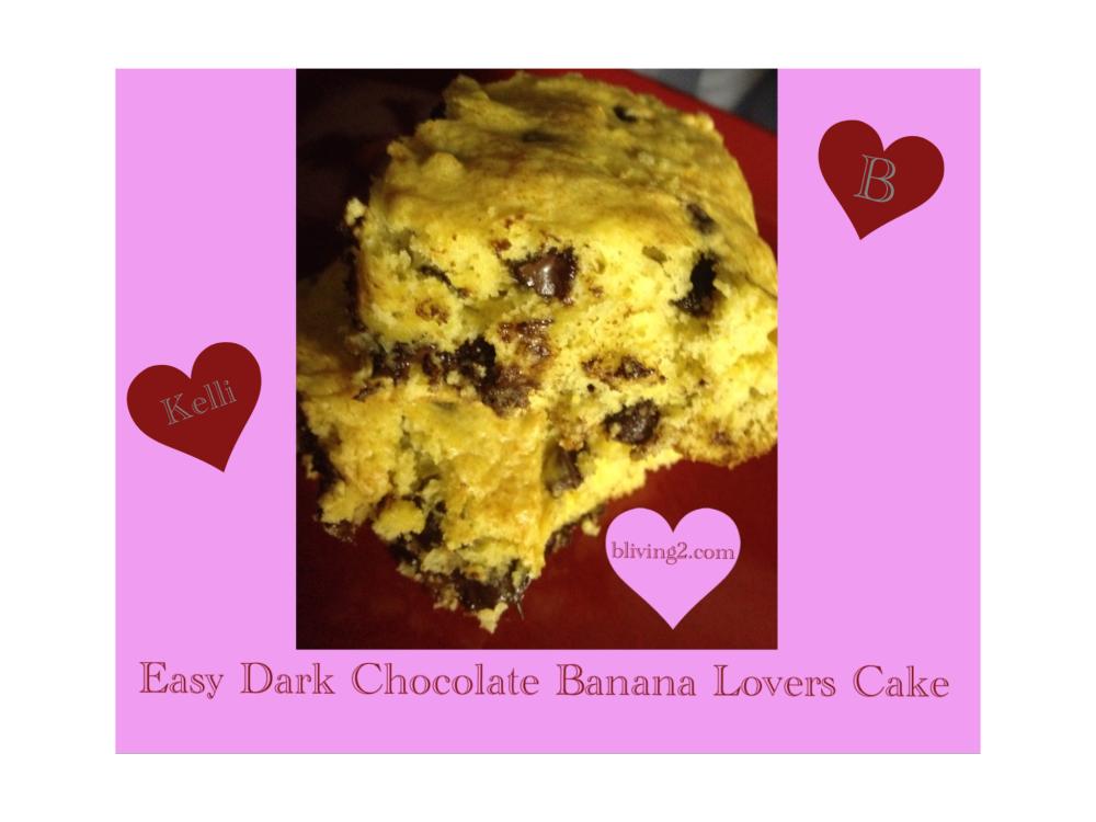Easy Dark Chocolate Banana Lovers Cake Picture