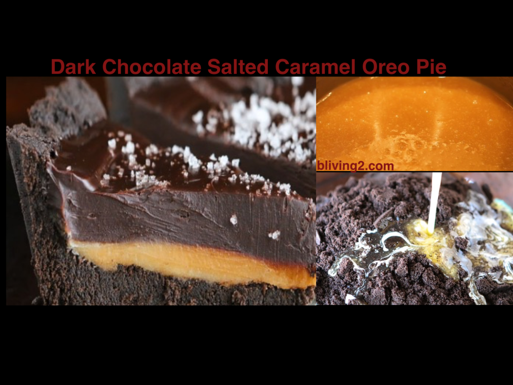 Dark Chocolate Salted Caramel Oreo Pie Picture