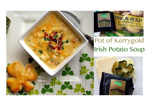 Pot of Kerrygold Irish Potato Soup