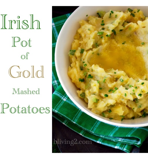 Irish Pot of Gold Mashed Potatoes