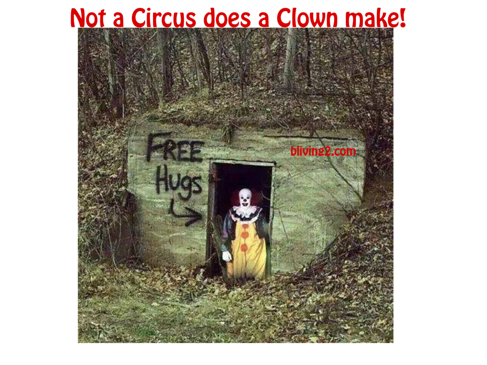 Not a circus does a clown make