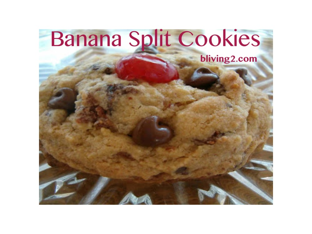 Banana Split Cookies