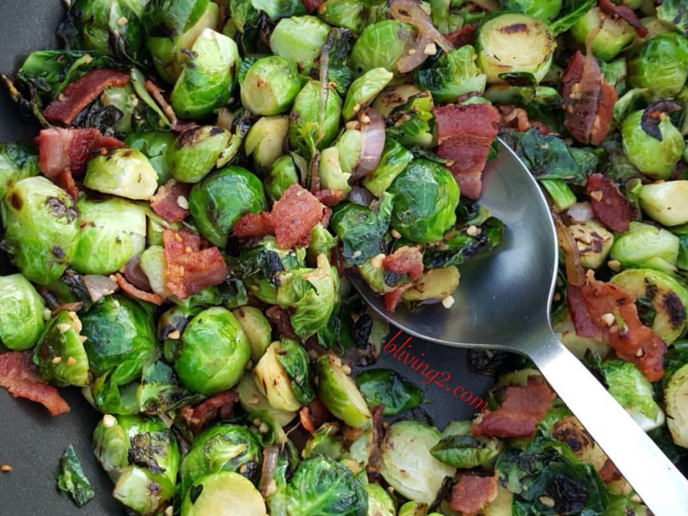 Spruced out Brussel Sprouts