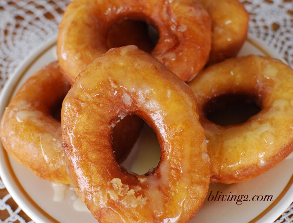Homemade Happy Glazed Donuts